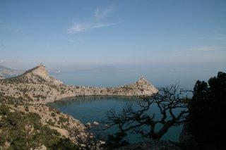 Голубая бухта, мыс Капчик и гора Орёл