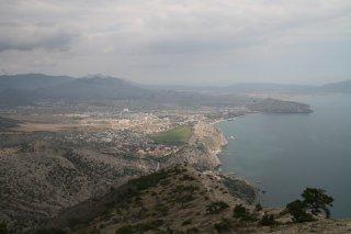 Судак и Генуэзская крепость с вершины Сокола